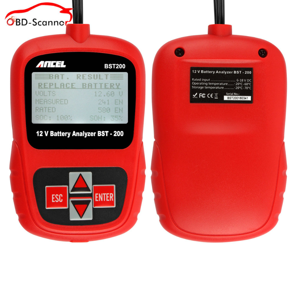 battery check battery analyzer 12v lead acid battery load tester automotive auto batterij tester