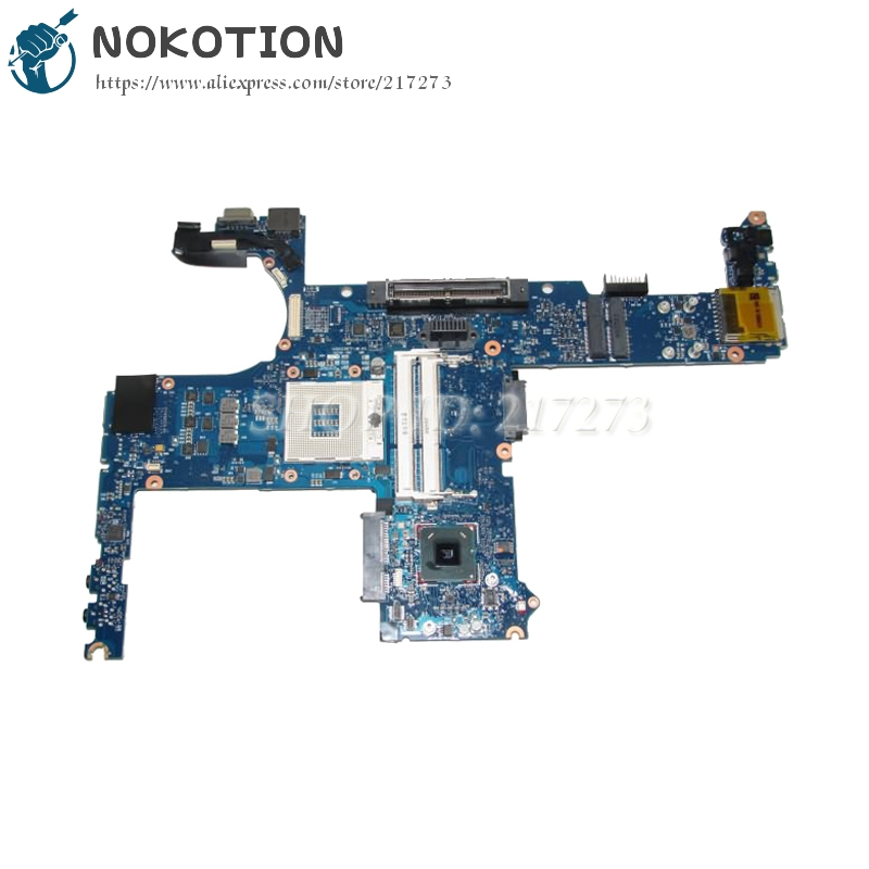 NOKOTION Main board For HP elitebook 8460p 6460b Laptop Motherboard 642759-001 QM67 UMA DDR3 free shipping for hp 8560w motherboard 652638 001 intel qm67 ddr3 green model 100