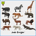 Mr.Froger Zoo Plastic Animal Toys Set Mini Wild Animals Figures Model Figurines Kids Toys For Children Panda Bear High Quality