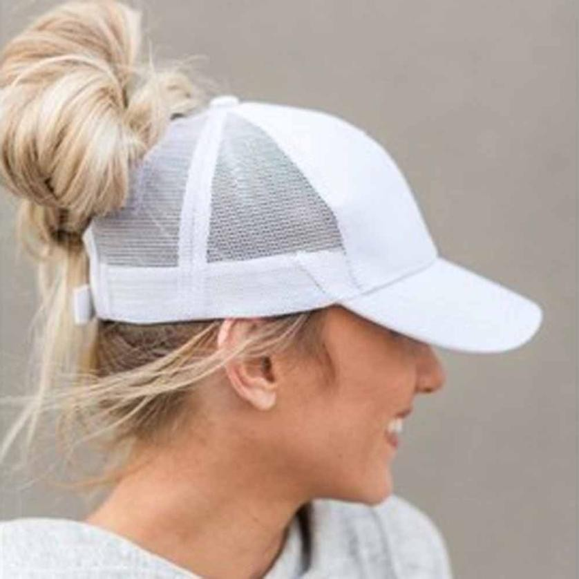 Summer Women Mesh   Cap   Ponytail   Baseball     Caps   Fashion Snapback   Caps   For Women&Man Sport Hat Unisex Bone Drop