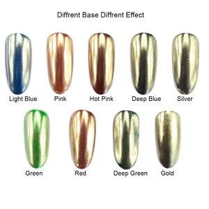 Image 3 - 0.5g Champagne Zilveren Spiegel Metallic Kleur Nail Glitter Poeder Dazzling Silver Holografische Pigment Nail Art Decoratie CH820/C