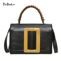 FuAhaLu new retro ladies wave tide shoulder Messenger bag fashion wild mini square bag