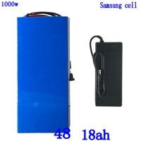 Bateria de lítio de 48v bateria 48v 18ah bateria elétrica battery48v 12ah 15ah 18ah 21ah uso da bateria de lítio samsung célula para 48v 500 w 750 w 1000 w motor|Bateria de bicicleta elétrica| |  -