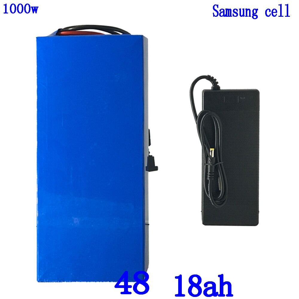 Batterie au lithium 48 V 1000 W batterie 48 v 18ah batterie de vélo électrique 48 V 18AH utilisation de la cellule samsung avec chargeur 30A BM + 54.6 V 2A