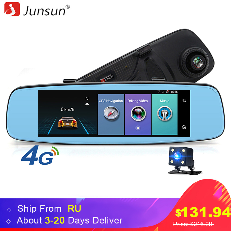 Junsun A880 4G ADAS Car DVR Camera Video Recorder Mirror 7 86 Android 5 1 With
