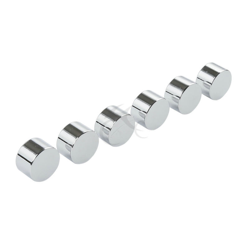 6x Chrome 9//16 Inch Hex Bolt Covers For Harley Davidson Touring Dyna Sportster