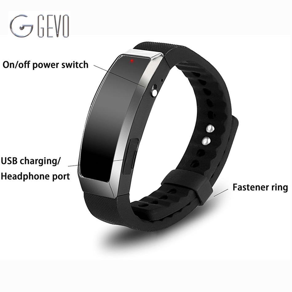 8GB Digital Voice Recorder Wristband MP3 Music Player Voice Activated Wearable Technology For Class Sports Lectures