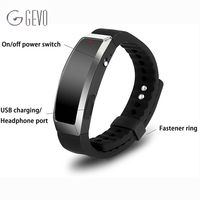 8GB Digital Wristband MP3 Music Player Voice Activated Watch Recorder Wearable Technology For Class Sports Lectures