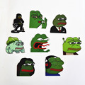 TD ZW 8Pcs Pepe Sad Frog Funny Sticker For Car Laptop Luggage Skateboard Motorcycle Snowboard Phone Decal Toy Pegatina Stickers