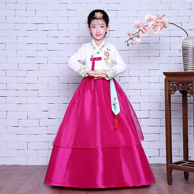 Performance Clothes National Baby Girls Dance Cosplay Hanbok Dress Traditional Korean Clothing Children Ancient Costume S