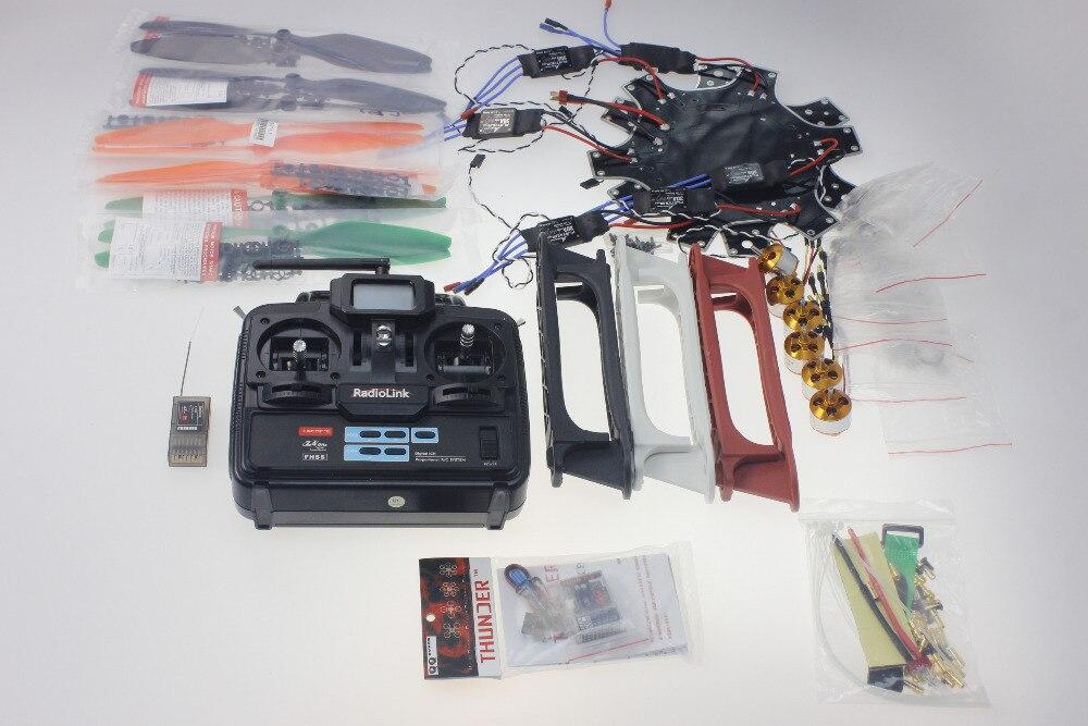 F550 Hexa-Rotor Air Frame FlameWheel Kit QQ SUPER Multi-rotor Flight Control HexaCopter  W/ ESC Motor Propeller TX&RX F05114-H