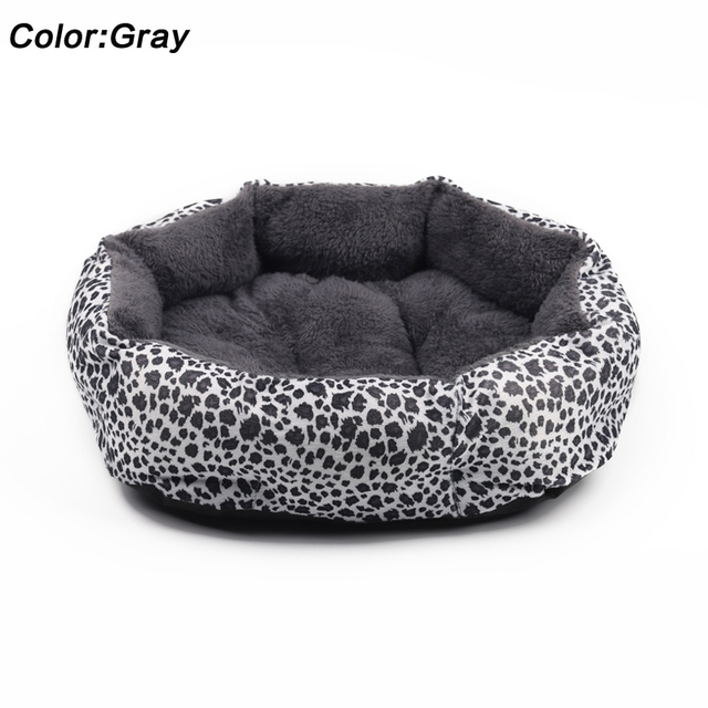 Hot sales! NEW! Colorful Leopard print Pet Cat and Dog Bed Pink, Yellowish brown, Purplish red, Brown, Gray, Yellow SIZE M,L 3