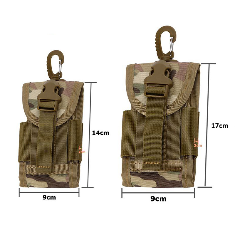4.5 inchTactical Pouch Travel Kit for Mobile Phone Cover of Backpacks Racksack Bag Hook Universal Army Case 2018 New
