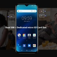 "cell phone screen Blackview A60 Pro Smartphone Mobile Phone 6.088"" Waterdrop Screen 4G LTE 4080mAh Android 9.0 3GB RAM Dual Rear Camera Cell Phone (3)"