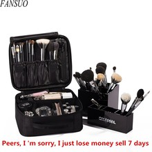 Hot Sell Women Beauty Professional Cosmetic Case Travel Waterproof Portable Large Necessity Storage Makeup Brush Organizer