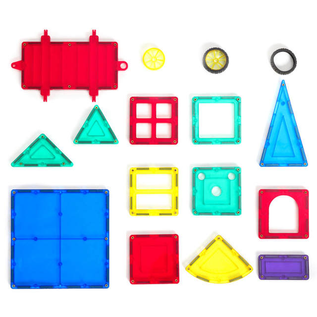US $0 65 23% OFF|Children Clear 3D Geometric Shapes Magnetic Tiles Building  Blocks Educational Building Toys for Kids-in Blocks from Toys & Hobbies on