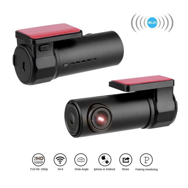 Kollision Sensor WIFI DVR Recorder Kamera Video Auto Unterstützung Mikrofon Auto DVR Kamera Spiegel 170 Grad Fahren Recorder Kamera