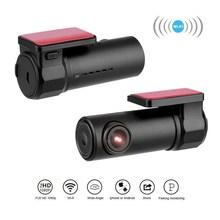 Датчик столкновения WIFI DVR регистратор камера Видео Авто поддержка микрофон Автомобильный видеорегистратор камера зеркало 170 градусов водительский рекордер камера