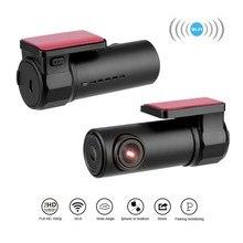 Çarpışma sensörü WIFI DVR kaydedici kamera Video otomatik desteği mikrofon araba dvrı kamera ayna 170 derece sürüş kaydedici kamera
