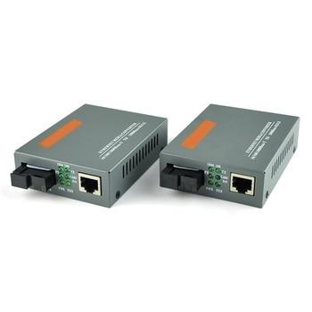1 Par HTB-GS-03 A/B Fibra Conversor de Mídia Óptica 1000 Mbps Gigabit Fibra Monomodo Único SC Porto 20 KM