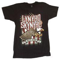 Lynyrd Skynyrd Free Bird Eagle USA Flag Black T Shirt New Official Soft