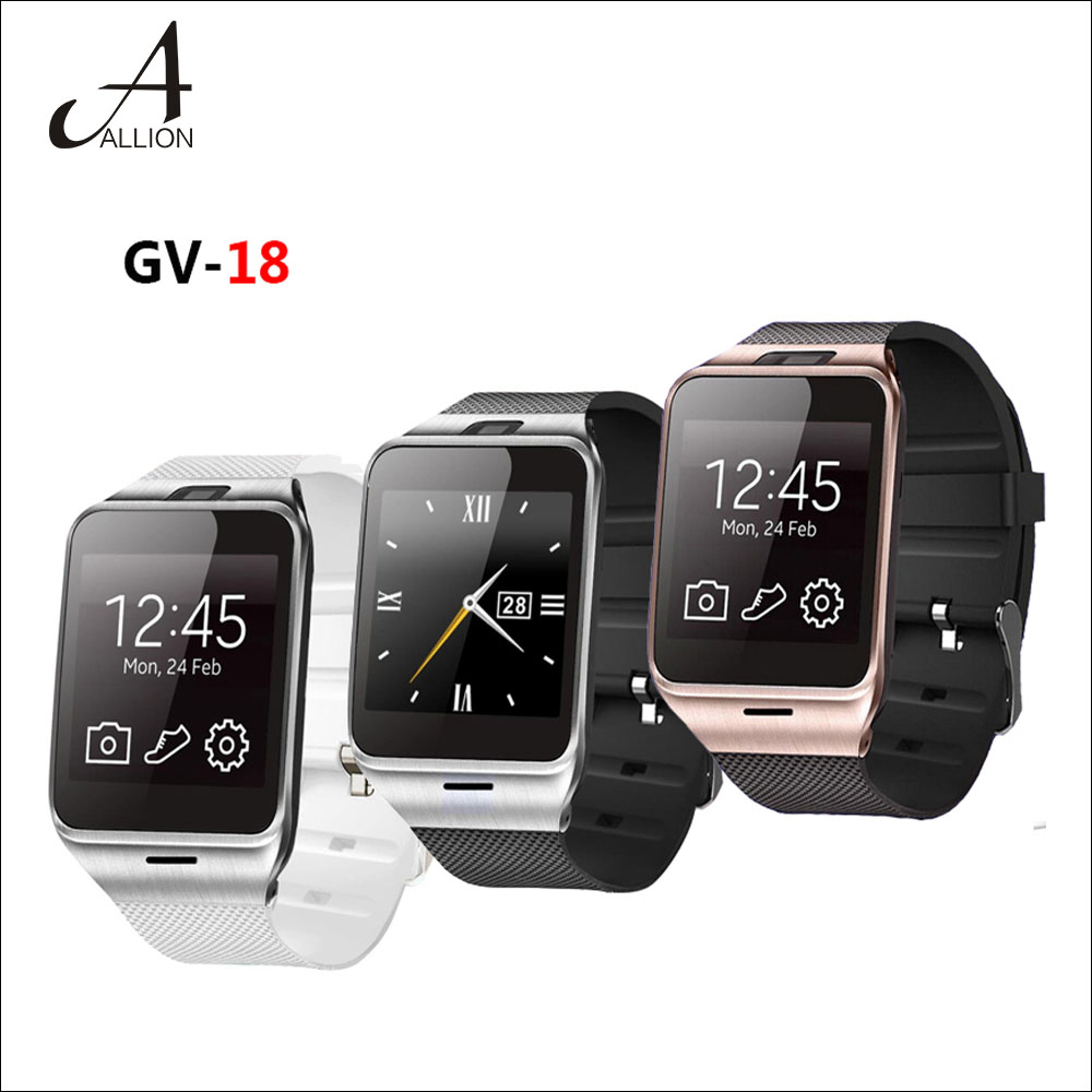 New 2016 Bluetooth Aplus GV18 Smart Watch Phone 1 55 GSM NFC Camera WristWatch SIM Card