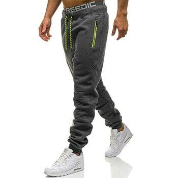 ZOGAA Men Full Sportswear Pants Casual Elastic Cotton Men Fitness Workout Pants Skinny Sweatpants Trousers Jogger Pants Hot Sale 1