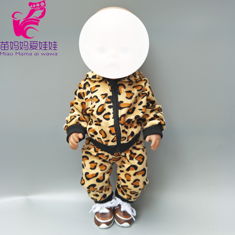 18 inch baby dolls clothes leopard pattern coat for 18 quot 43cm baby doll outfit accessory baby girl gifts in Dolls Accessories from Toys amp Hobbies
