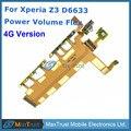 De calidad superior para sony xperia z3 dual 4g versión 3g versión D6633 Volumen y Botón Power On Off Flex Cable reemplazo