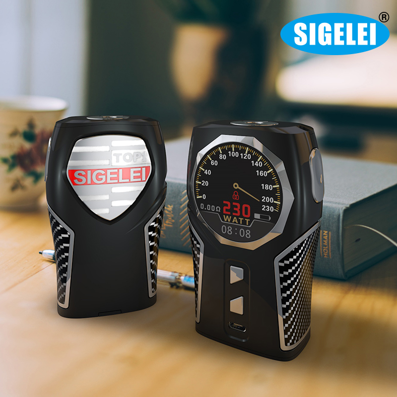 Original  Sigelei Top1 Mod 230w Temperature Box Mod Zinc alloy 1.3 TFT circular screen Electronic Cigarette Kit боксмод sigelei fuchai 213w tc blue силик чехол