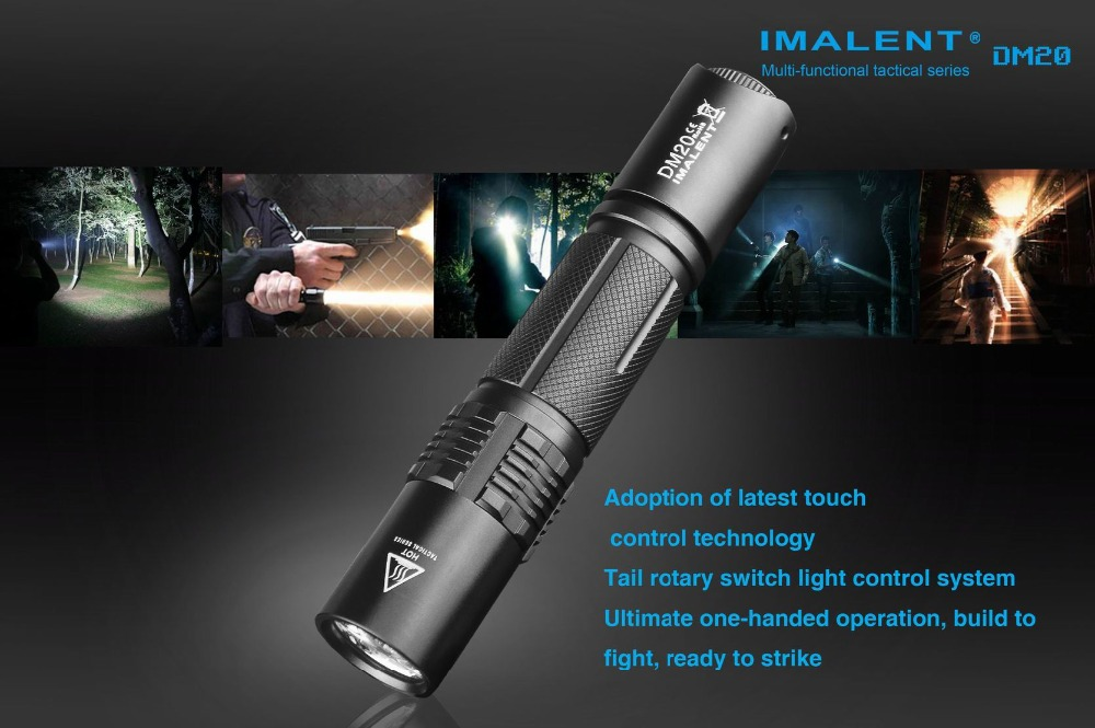 IMALENT DM20 Multi-functical Serises Cree XM-L2 U4 1000 Lumens Tactical Flashlight for Self-defense with USB Cable+18650 Battery ipx 8 waterproof tactical torch imalent dn35 usb rechargeable cree xhp70 2200 lumens led flashlight self defense 26650 battery