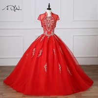 ADLN Red Quinceanera Dresses High Quality Embroidery Sweet 16 Dress with Jacket Ball Gown Debutante Gown Vestido 15 Anos