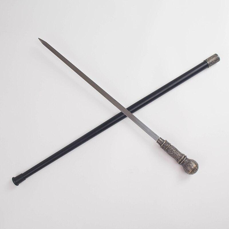 Spada Bastone Da Trekking Pole Materiale In Acciaio Inox 90 centimetri lungo Quattro colore Canna di Metallo di Auto protezione Puntelli - 6