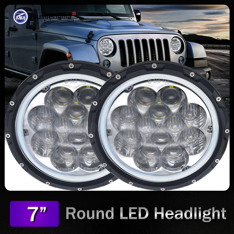 New pattern Hi/low beam new design 60W 7inch round led headlight 5WD auto Driving Led Lamp Headlight for Jeep Wrangler