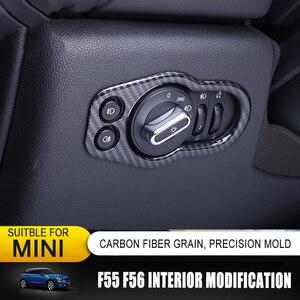 Image 3 - סיבי פחמן דפוס פנים שיפוץ גלגל הגה דקורטיבי לשקע אוויר מסגרת מדבקת סט שלם עבור מיני קופר אחד F55 F56