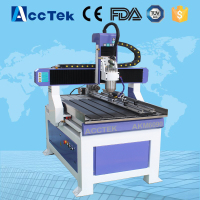 Advertising 4 Axis Cnc Router 6090 Mini Wood Design Cutting Machine For Pcb Pvc Aluminum