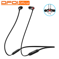DFOI Bluetooth Earphones Wireless Headphones Waterproof Earphone Sports Bluetooth Headphone Neckband Headsets with mic for phone