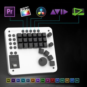 USB Pr Editing OLED Sccreen Custom Keyboard Premiere Final Cut Hot Key Cherry Switch Mechanical Keyboard for Video Editing Мотоцикл