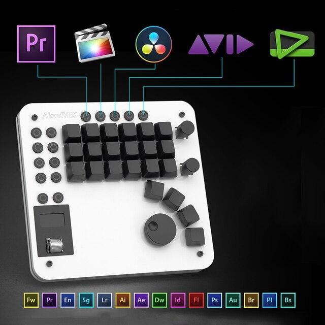USB Pr Editing OLED Sccreen Custom Keyboard Premiere Final Cut Hot Key Cherry Switch Mechanical Keyboard for Video Editing