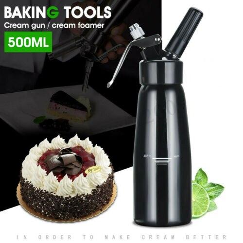 2019 novo dispensador de creme chicoteado aço inoxidável 500 ml whipper fabricante profissional novo ca