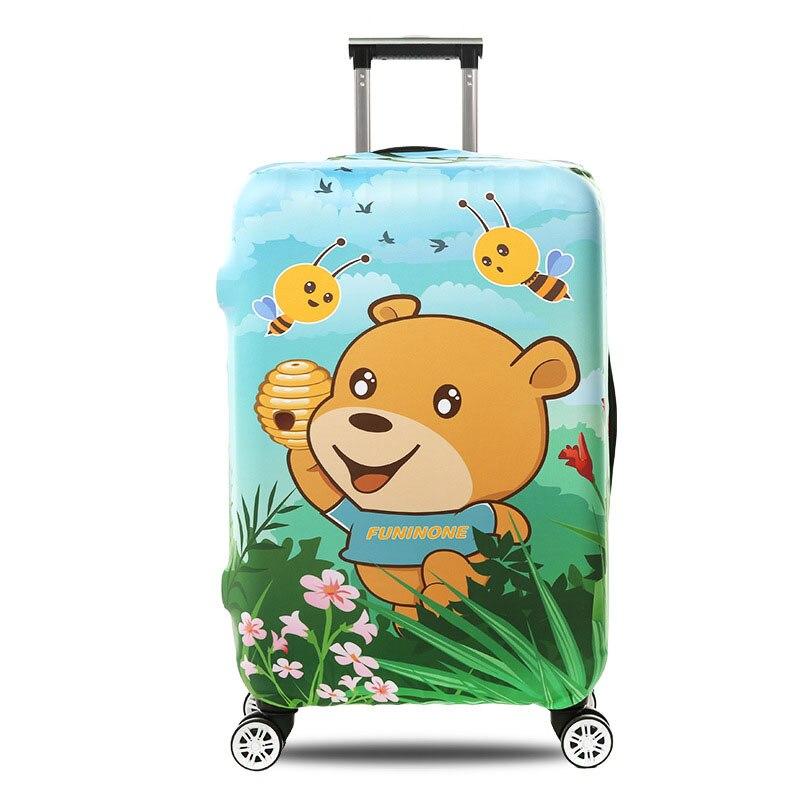 OKOKC медведь мультфильм толстый чемодан Крышка для багажник случае применяются к 18 -32 чемодан, эластичные Чемодан, дорожные аксессуары