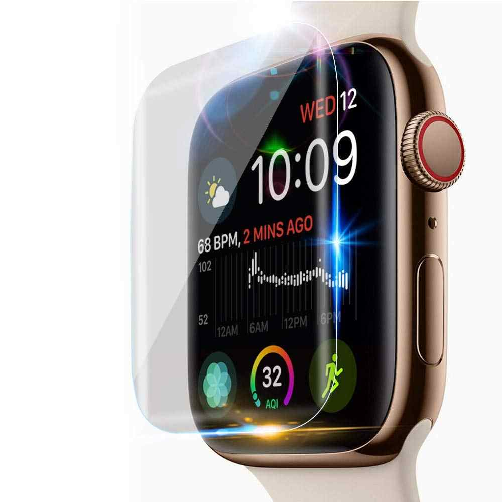 42 Mm 38 Mm Screen Protector untuk Apple Watch Case Series 4 44 Mm 40 Mm Lembut Film IWatch Band 9D Anti-Shock Pelindung Cakupan Penuh
