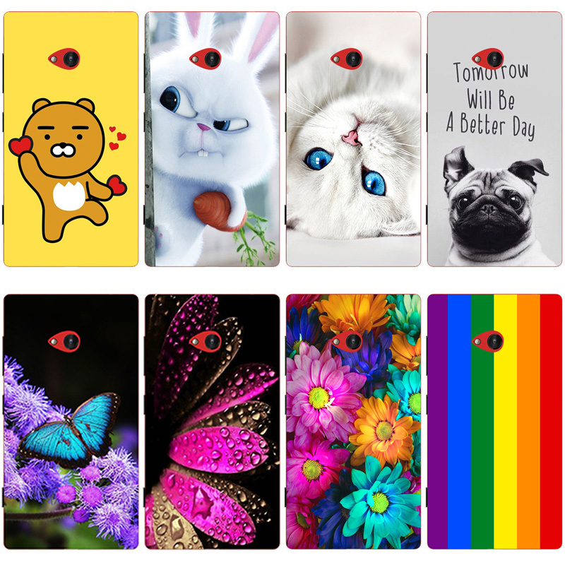 For Nokia 720 Case Silicone Gel TPU Soft Case For Microsoft Nokia 720 Cover Phone Protective Cases Painted Skin Shell N720 Bags