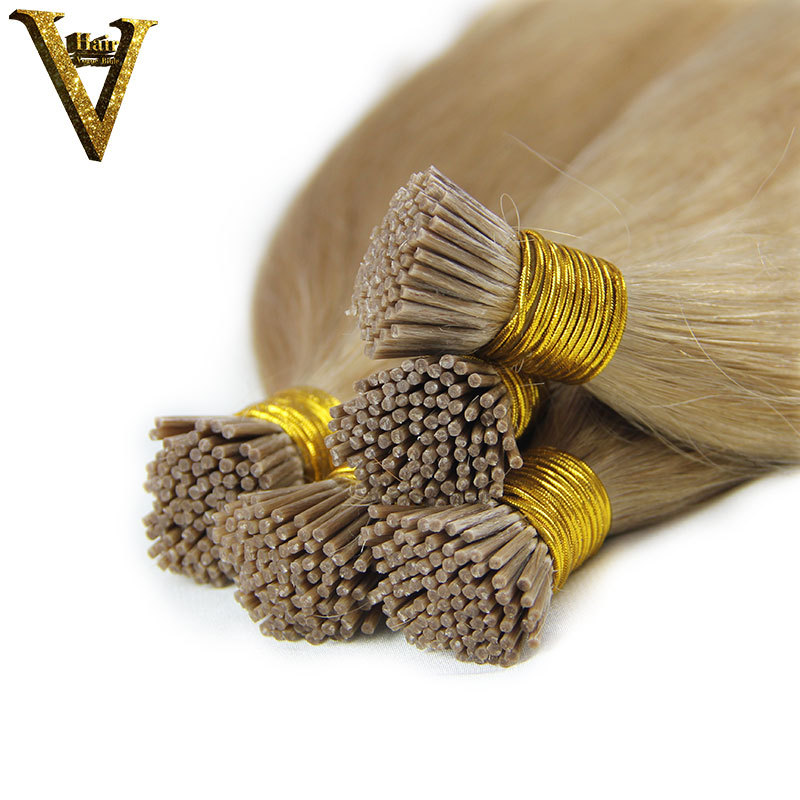 Nail Tip Human Hair Extension Pre Bonded With Keratin For Easy
