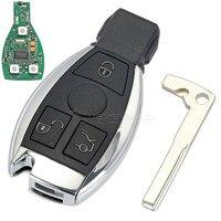 3 Botones de Cáscara Dominante Alejada Del Coche Para Mercedes Benz año 2000 + NEC y Control de 433 MHz de Alta Calidad BGA Llave del coche de Sustitución D45