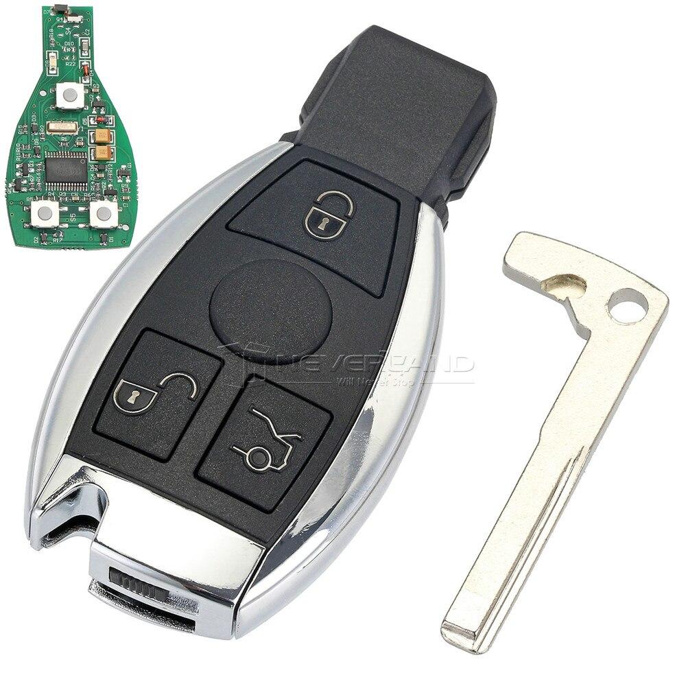 3 Tasten Fernautoschlüsseloberteil Für Mercedes Benz jahr 2000 + NEC & BGA Control 433 MHz Hohe Qualität Autoschlüssel Ersatz D45