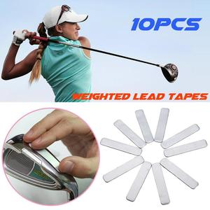 10 pcs/bag Golfer Adhesive Lead Tape Strips Add Power Weight To GOLF CLUB Tennis Racket Iron Putter Racquets Golf Accessaries