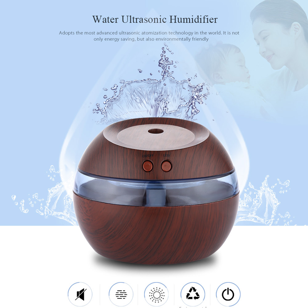 New 290ml USB Essential Oil Diffuser Air Humidifier Ultrasonic Aroma Diffuser Mist Maker With Blue LED Light For Office Home crdc air humidifier ultrasonic 100ml aroma diffuser glass essential oil diffuser mist maker with 7 colors changing led light