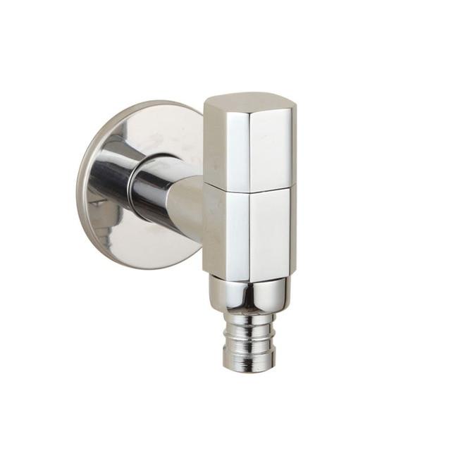 Chrome Brass Washing Machine Faucet Wall Mount Sink Basin Water Tap Garden  Hose Faucet Spigot Bibcocks