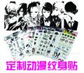 2017 Temporary Tattoo 1 Pcs Factory Direct Face To Tokyo Ghoul Exo Tf Combination Gintama Anime White Pattern Tattoo Stickers